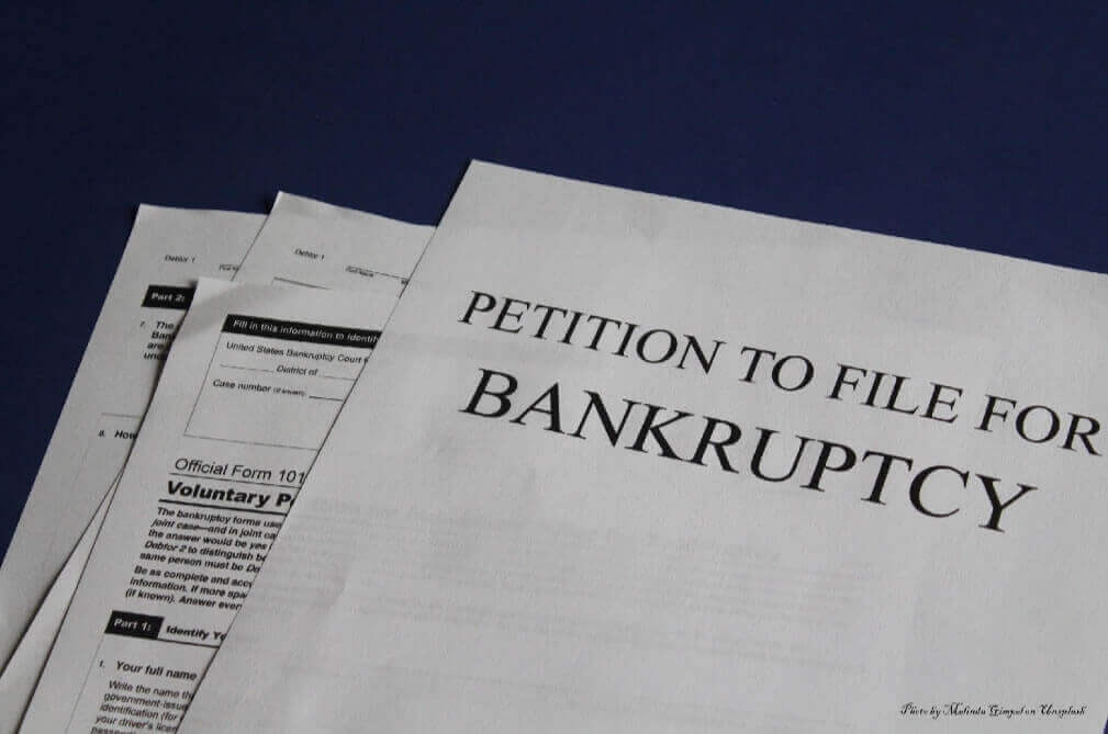 petition bankruptcy